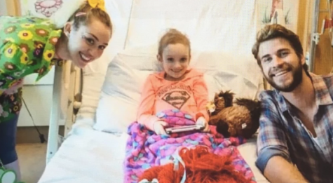 Miley Cyrus and Liam Hemsworth Visit Cancer Patients