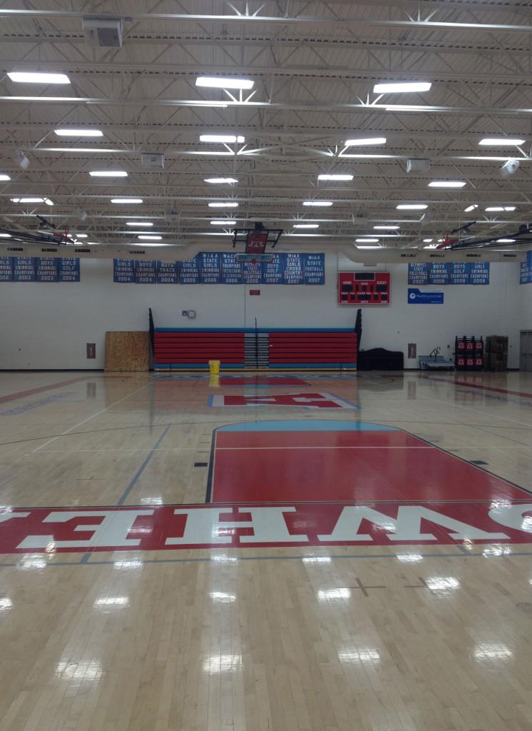 Arrowhead High Schools North Campus East gym where home basketball games will be held.