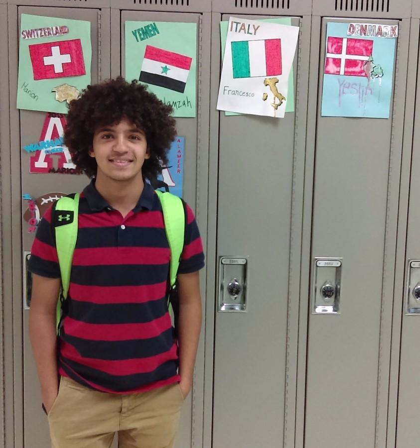 Hamzah 2016 Arrowhead exchange student from Yemen