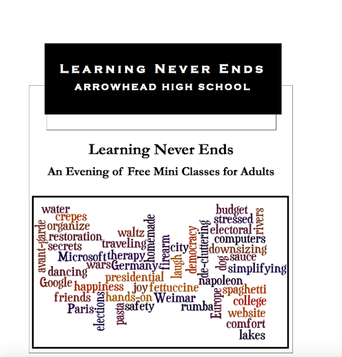 Learning Never Ends Brochure
