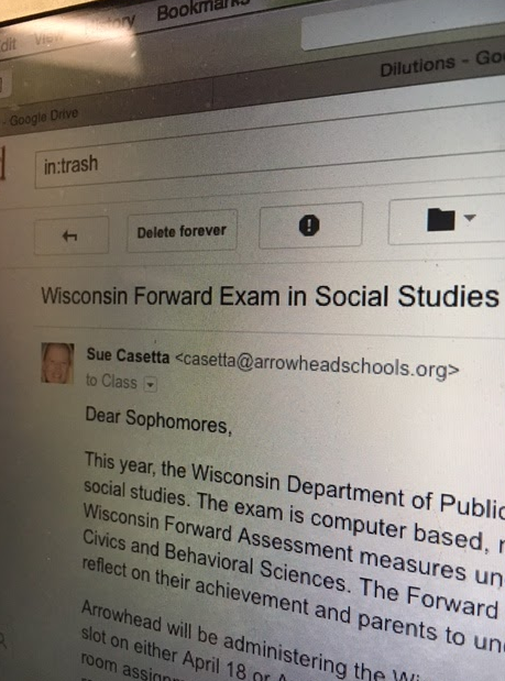 Photo of Email Sent to All Sophomores