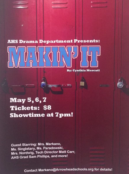 The play will be shown on May 5, May 6, and May 7 at 7 PM in the North Campus theatre