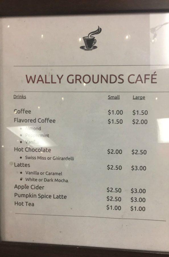Wally Ground Cafe Menu