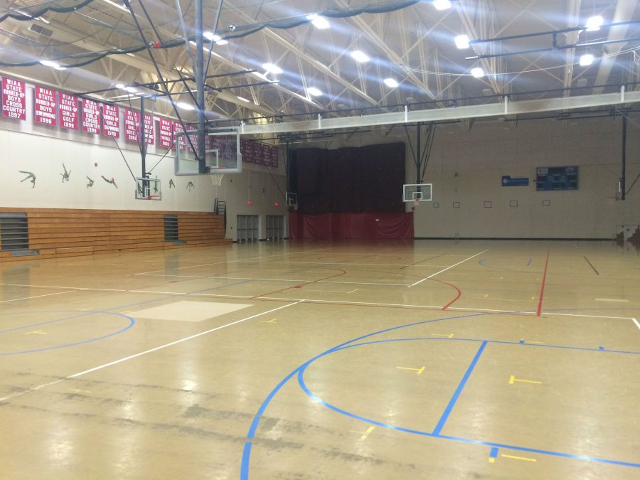The west gym will be the dance floor