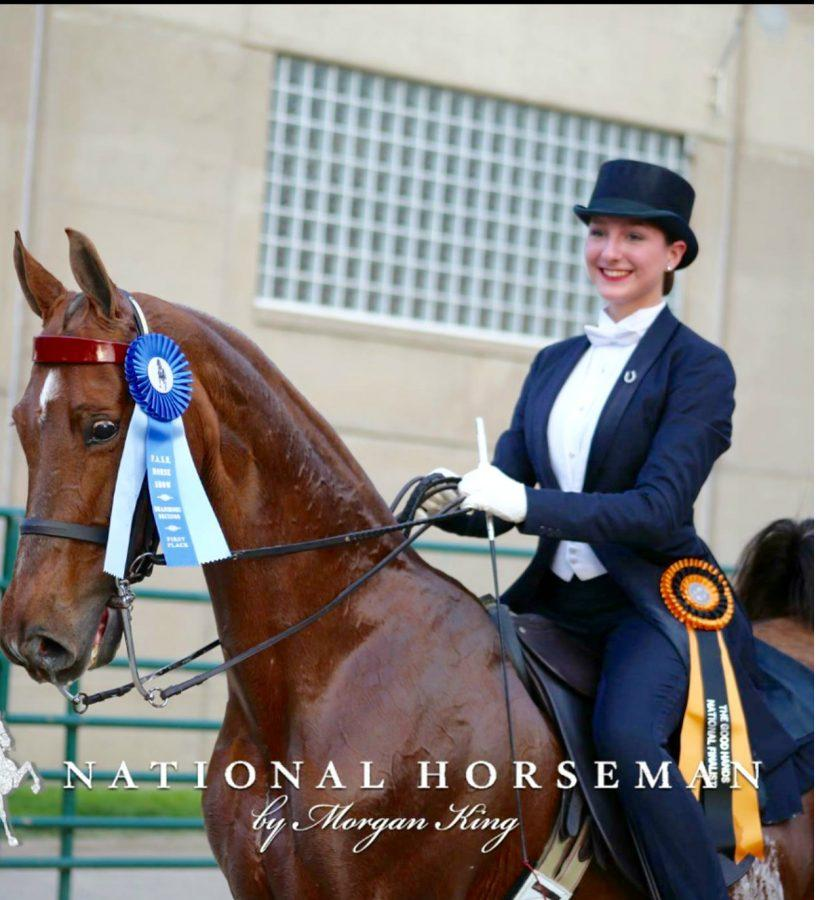 Sophie Patterson Riding in The World Championships