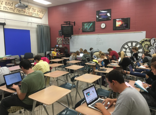 Ms. Jorgensons Classroom at North Campus in session.