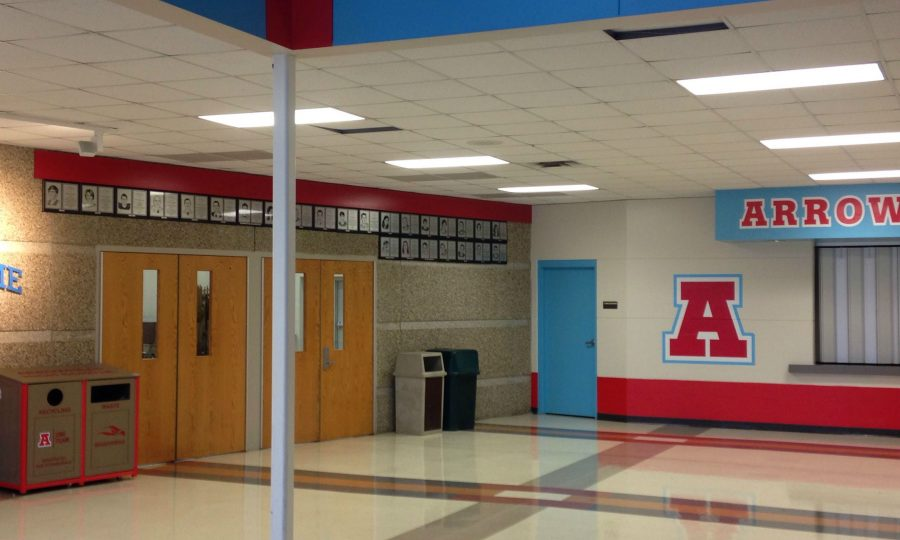 Inside of Door 15 which will be adorned in Hawaiian decorations at Homecoming and sports teams will wait to depart early Saturday morning