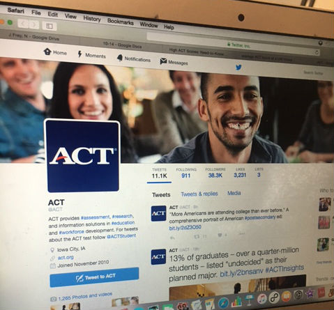 ACT Twitter page