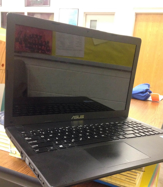 Student laptop: In the age of technology, students are turning to screens like these and much smaller than older generations who tend to receive news through televised programs as opposed to online.