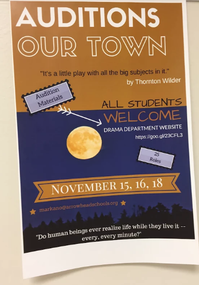 Arrowhead Drama Department to put on Winter Production of Thornton Wilder's Our Town