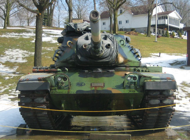 M60A3TTS tank at Soldiers Memorial Park in Mineral Point, WI