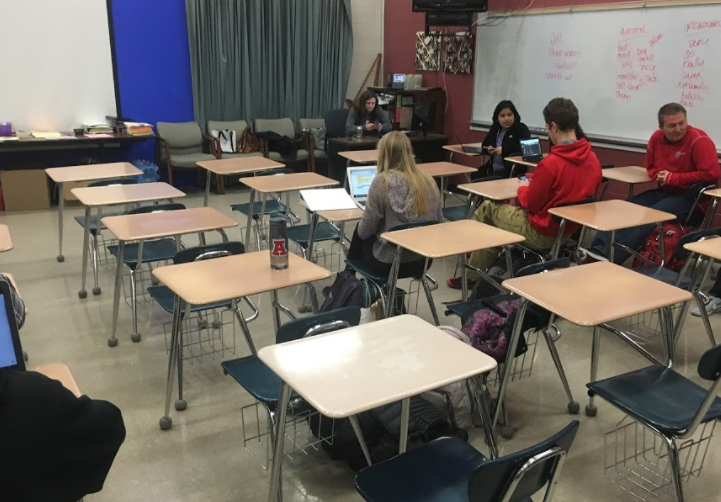 Creative writing, one of the many classes students are able to take, takes place in this room.
