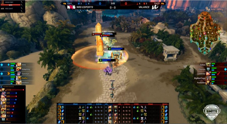 NRG engages Valance in the dual lane