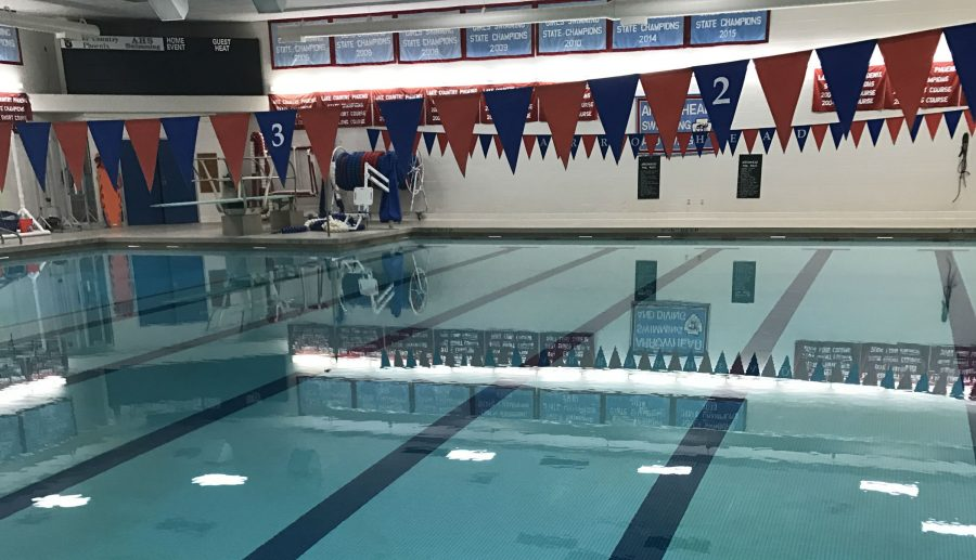 Arrowheads Swimming Pool-- where students can swim during spring break