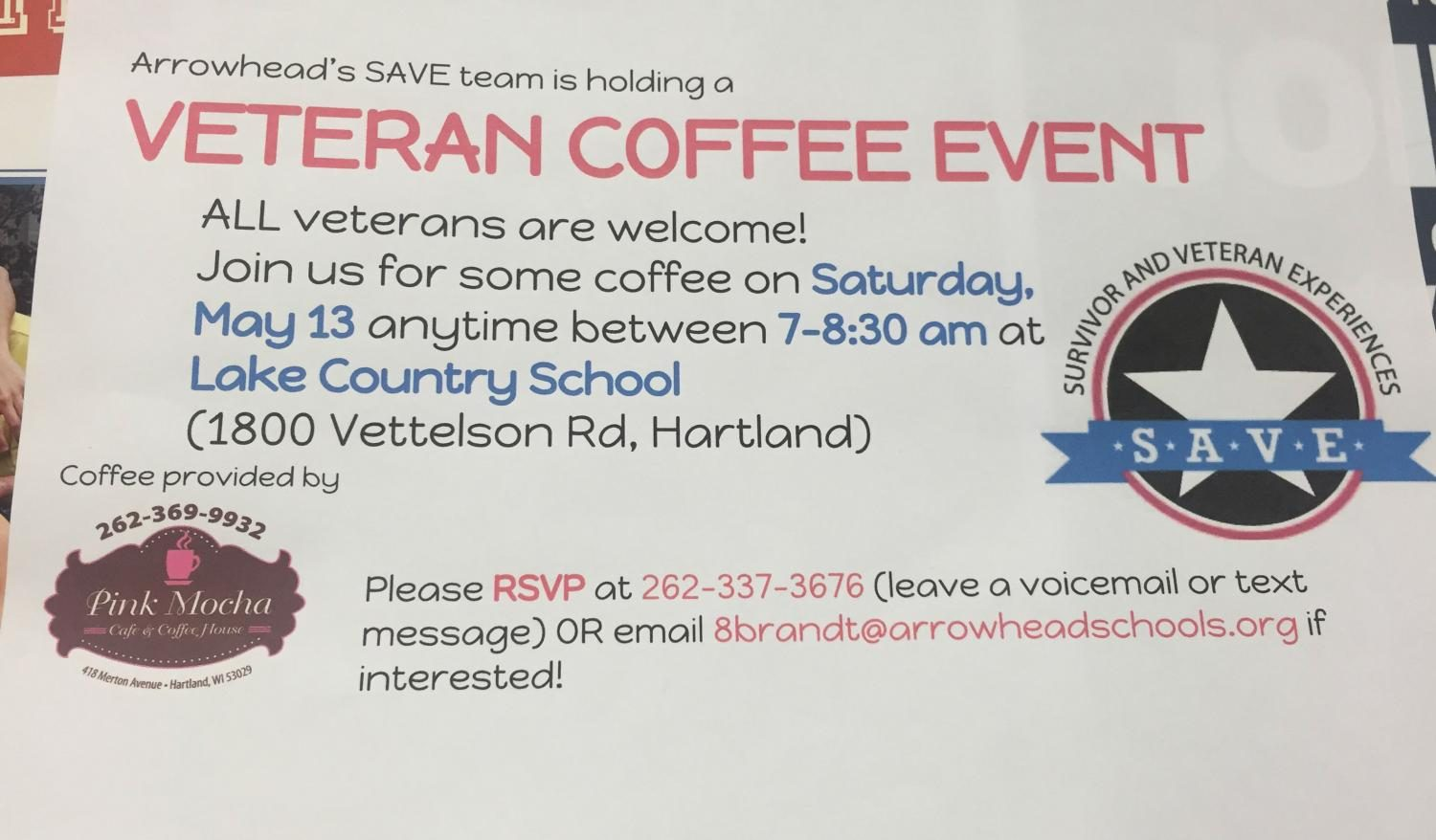 Sendiks Food Market in Hartland and Arrowheads SAVE team are honoring war veterans this month