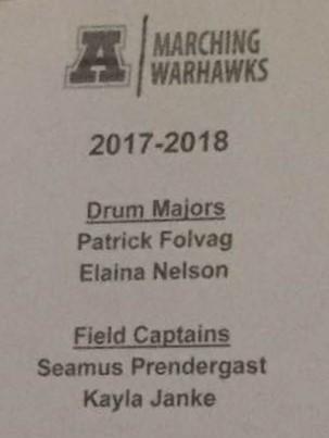 Arrowhead Marching Warhawks Drum Majors Decided