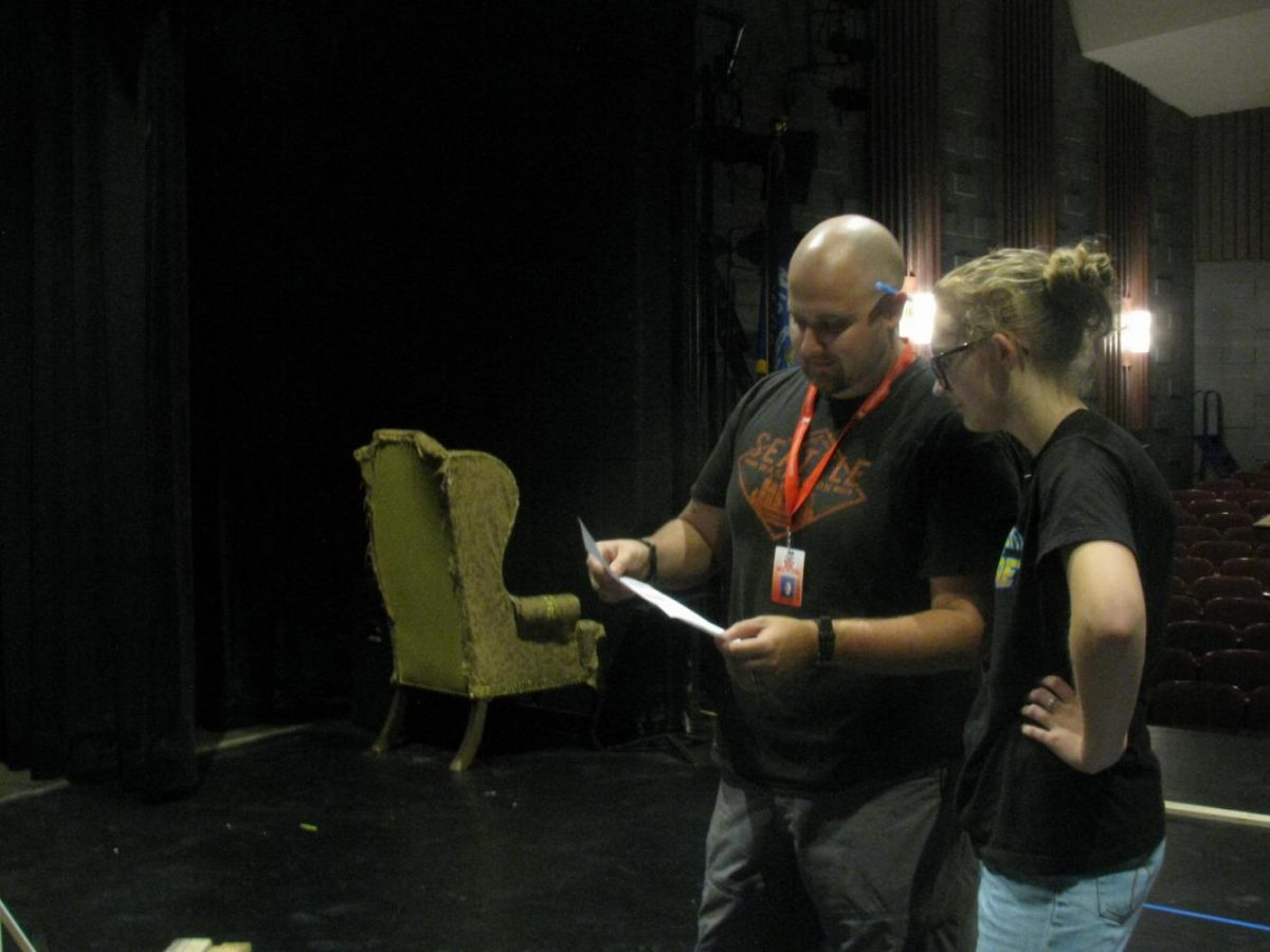 Arrowhead's stage crew discusses plans to build the sets for Legally Blonde: The Musical.