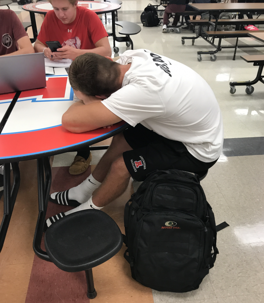 Student+John+Doleschy+catching+up+on+sleep