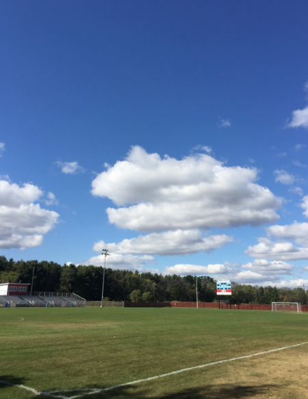 Arrowhead soccer stadium setup for next home game.