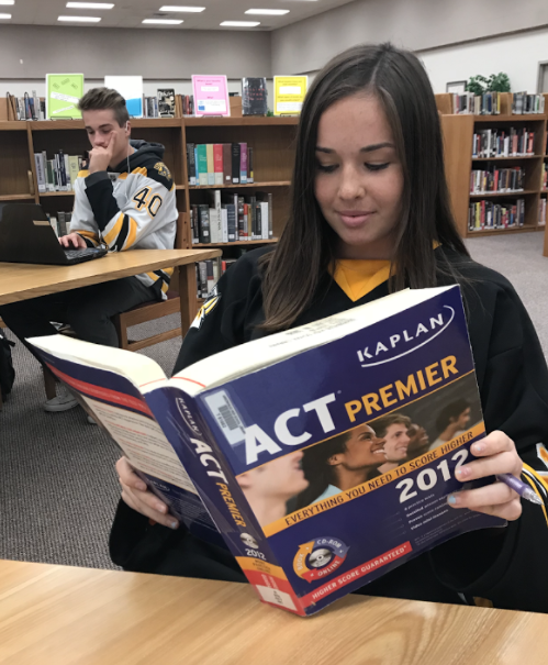 AHS Student Ellie Bonk Studying For The ACT