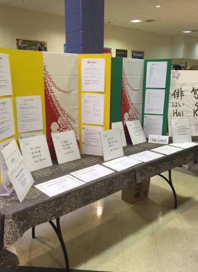 The Milwaukee Haiku Club displayed the students' haikus at Japan Fest.