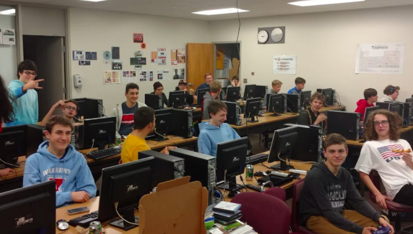 Arrowhead's eSports club gets together for one of their Friday meetings to play games.