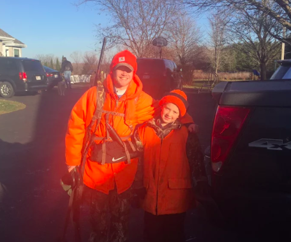 Robby Shattuck in his hunting gear, taken by Mike Shattuck