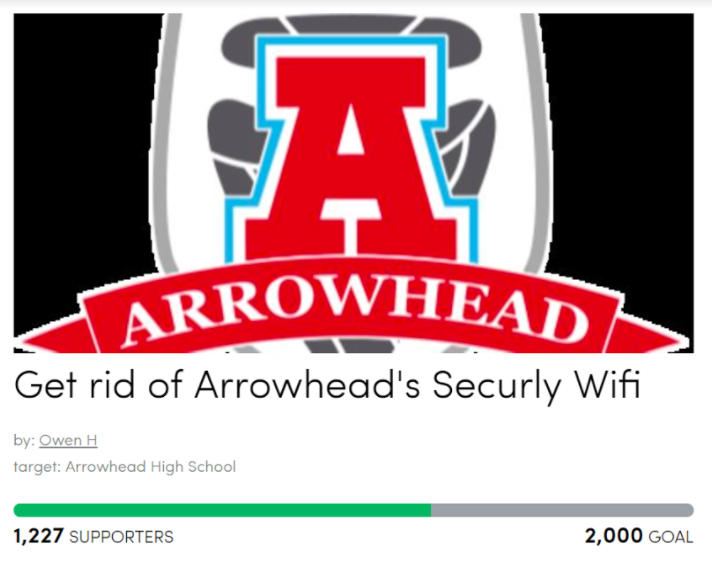 Outraged Arrowhead students begin a petition against the switch to Securly.