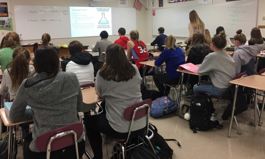Arrowhead+students+engage+with+their+homeroom.+