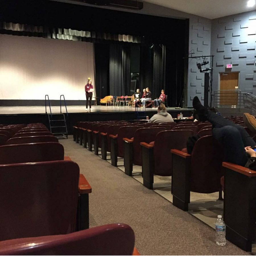 Students audition for the winter play in the North Campus theater. (Photo taken by junior Matthew Roberts)