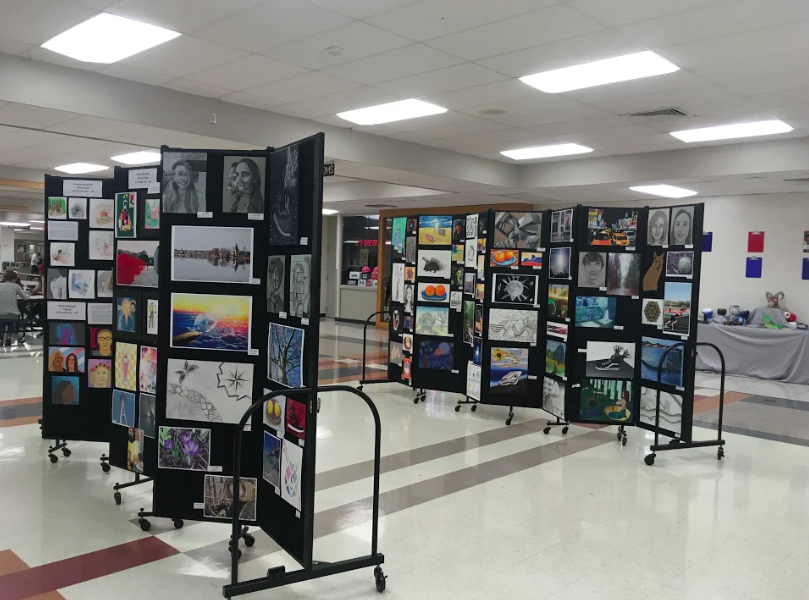 The AHS first annual Art Show was held in the North Campus cafeteria on May 22nd, 2018.