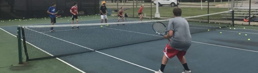 Arrowhead Tennis Players Participate in Tennis Camp