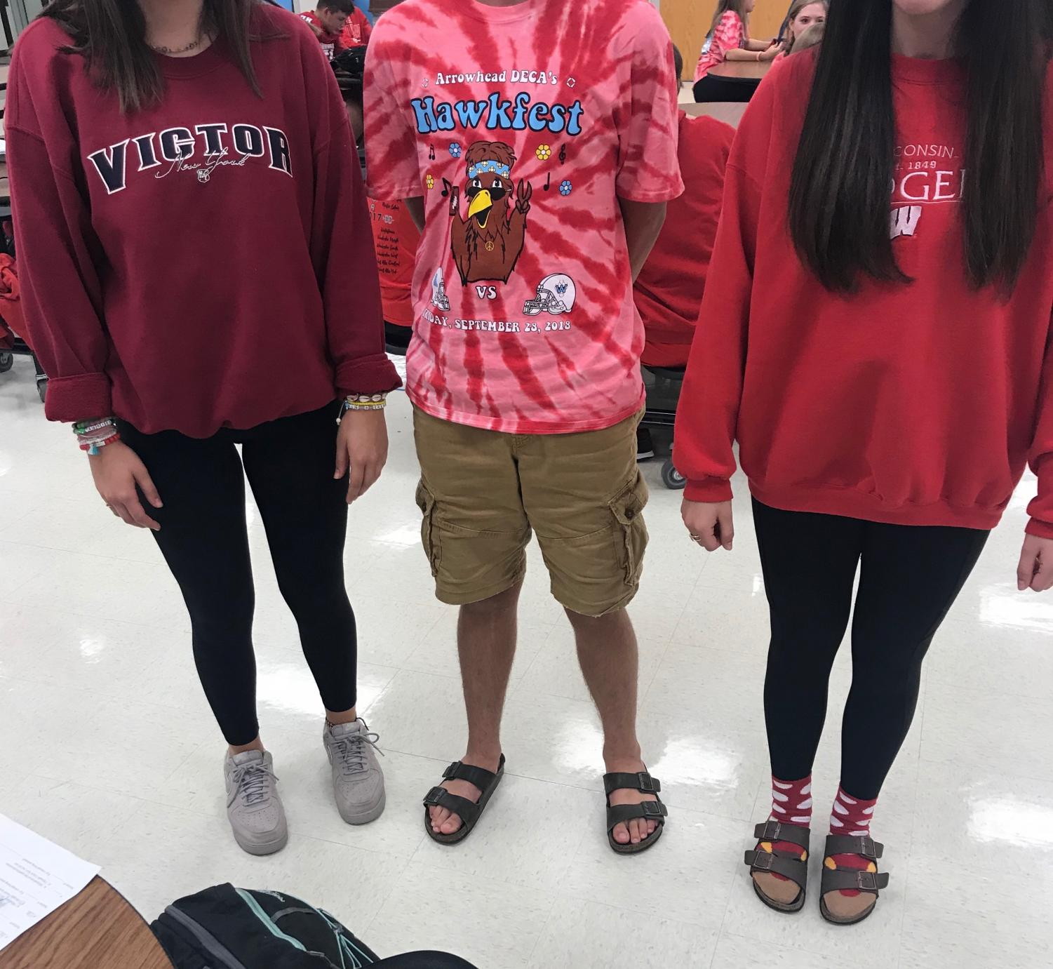 Students at Arrowhead High School who are following the dress code