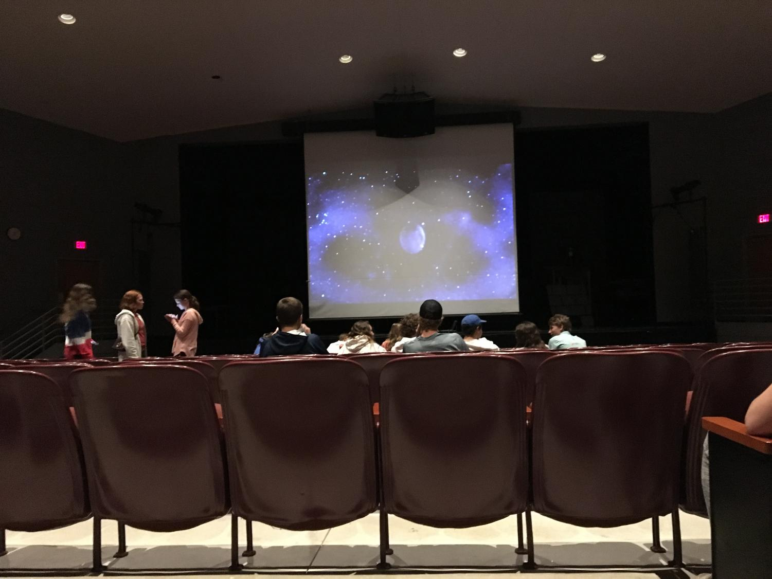 North Campus Theater on Homecoming Movie Night