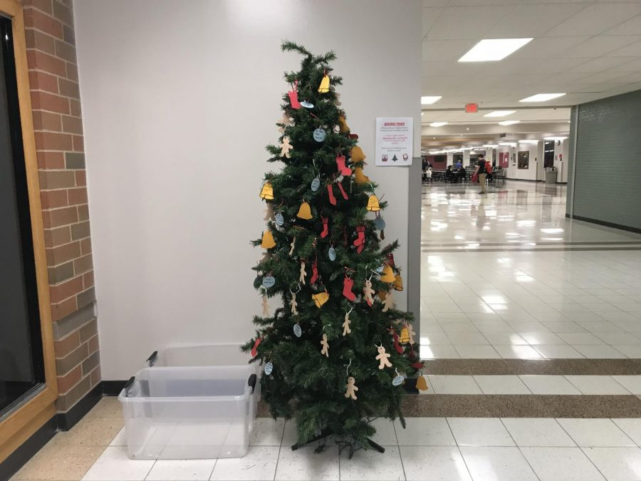 Arrowhead festivities have begun with the giving tree found near the front doors at North or in the library at South