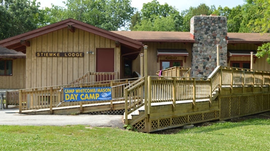 The Stiemke Lodge at Camp Whitcomb/Mason in Hartland, WI.