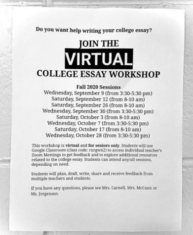 College Essay Workshop: Virtually for the year of 2020-2021